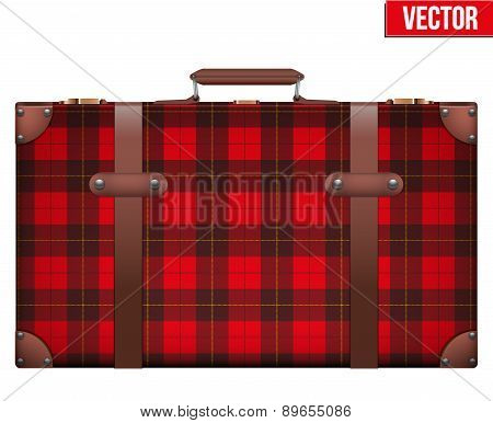 Vintage baggage suitcase for travel