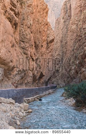 The Gorges Du Dades Valley With River, Morocco