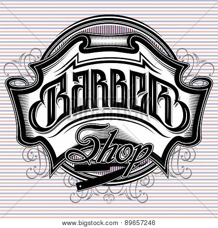 Stylish Sign For A Barber Shop