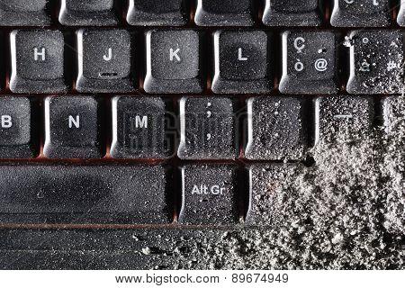 Dust Covered Keyboard