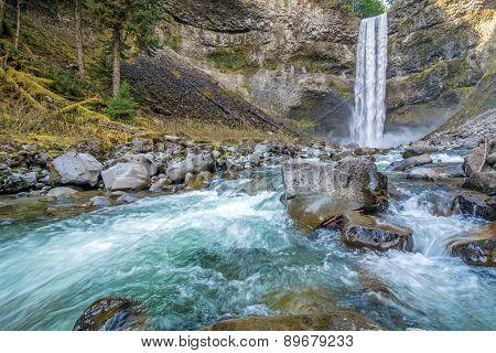 Brandywine waterfall in Brandywine Falls Provincial Park, British Columbia, Canada