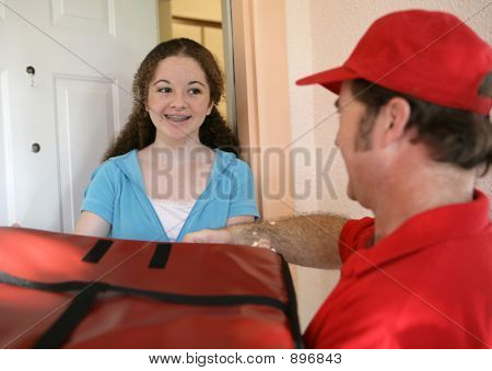 Receiving Pizza Delivery