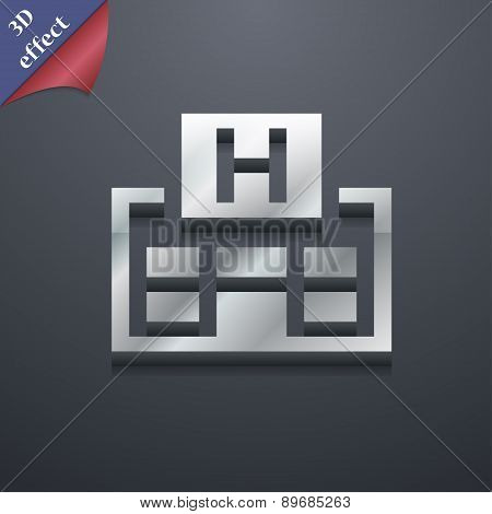Hotkey Icon Symbol. 3D Style. Trendy, Modern Design With Space For Your Text Vector