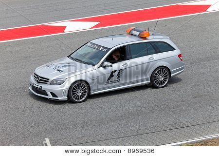 BARCELONA- MAY 9:The safety car before on parade of pilots before a stage of race the Formula 1 Gran