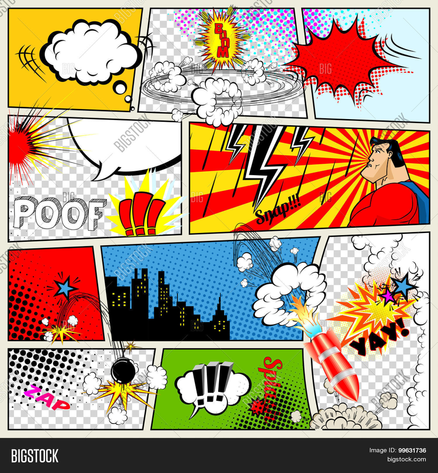 Comics Template. Vector & Photo (Free Trial) | Bigstock