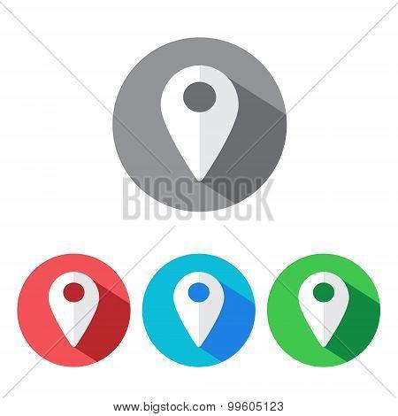 Map pin icons set