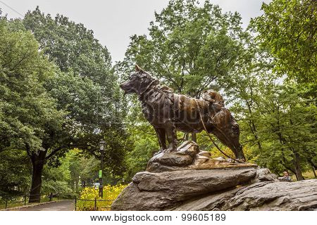 Monument Of Siberian Husky Balto