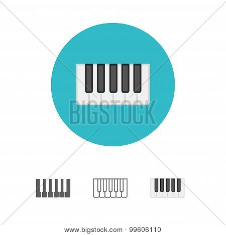 Octave, piano keys icon