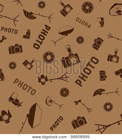 Photo studio tools seamless pattern