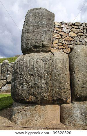 Sacsayhuaman Walls, Ancient Inca Fortress Near Cuzco, Peru