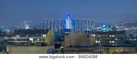 Torre Agbar At Night