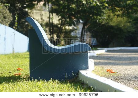 Park Bench Made Of Cement