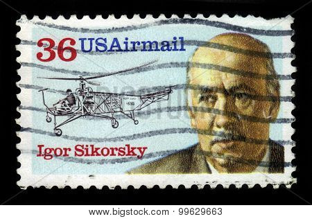 Igor Sikorsky And Helicopter