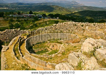 Grave Circle Of A Ancient Hilltop Palace