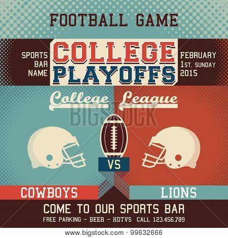 College Playoffs Football Game