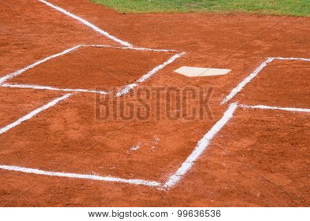 Base Of A Baseball Field