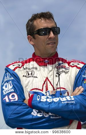 Fort Worth, TX - Jun 07, 2013:  Justin Wilson (19) takes to the track for a practice session for the Firestone 550 race at the Texas Motor Speedway in Fort Worth, TX.