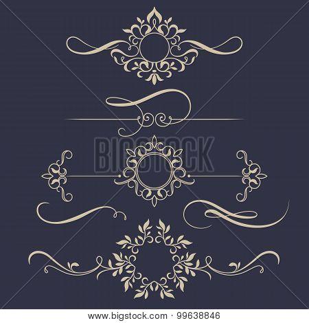 Set Of Floral Monogram.