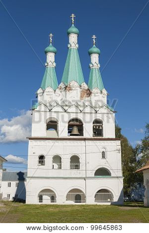 Russian Orthodox church with belltowers