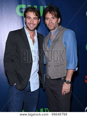 LOS ANGELES - AUG 10:  James Wolk & Billy Burke arrives to the Summer 2015 TCA's - CBS, The CW & Showtime  on August 10, 2015 in West Hollywood, CA