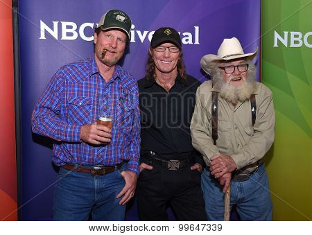 LOS ANGELES - AUG 12:  Rooster McConaughey, Butch Gilliam & Gil Prather arrives to the arrives to the Summer 2015 TCA's - NBCUniversal  on August 12, 2015 in Beverly Hills, CA