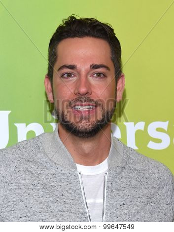 LOS ANGELES - AUG 13:  Zachary Levi arrives to the Summer 2015 TCA's - NBCUniversal  on August 13, 2015 in Hollywood, CA