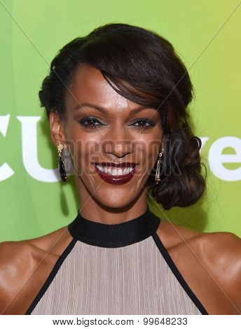 LOS ANGELES - AUG 13:  Judi Shekoni arrives to the Summer 2015 TCA's - NBCUniversal  on August 13, 2015 in Hollywood, CA