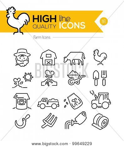 Farm Line Icons Series