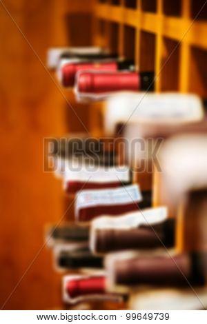 Defocus Wine Cellar Cabinet In Luxury Restaurant