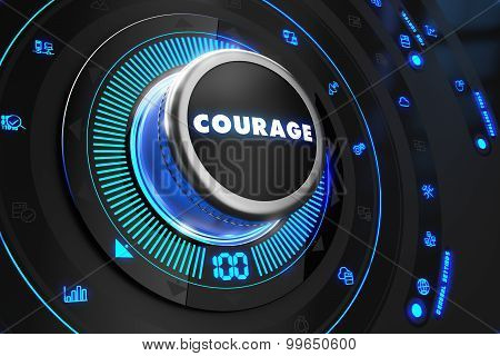 Courage Controller on Black Control Console.