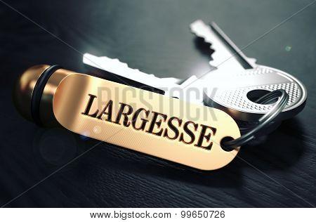 Largesse Concept. Keys with Golden Keyring.