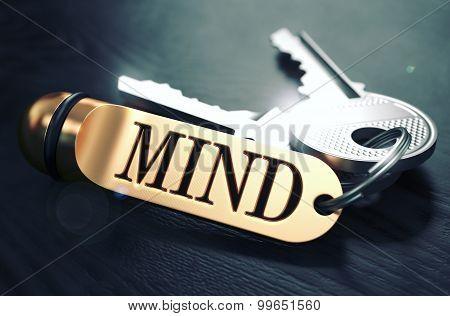 Mind written on Golden Keyring.