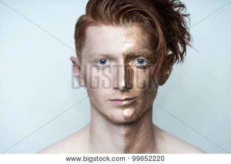 Red Man With Bronze Face