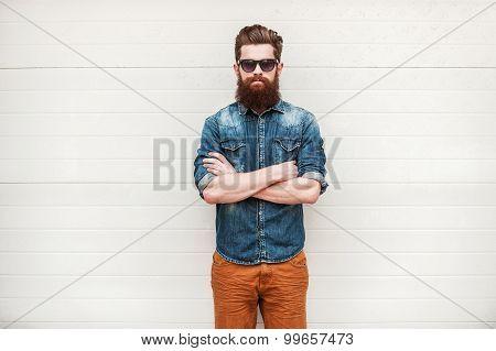 Bearded And Stylish.