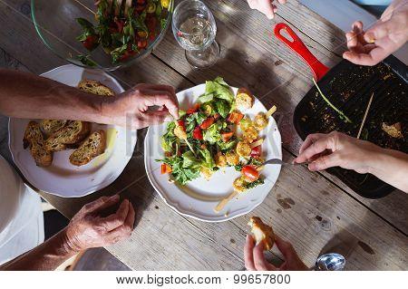 Having a dinner
