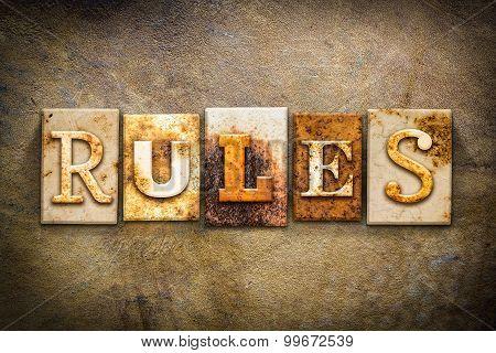 Rules Concept Letterpress Leather Theme