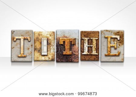 Tithe Letterpress Concept Isolated On White