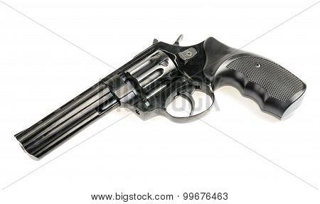 Revolver On White Background