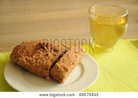 homemade cake and a cup of tea
