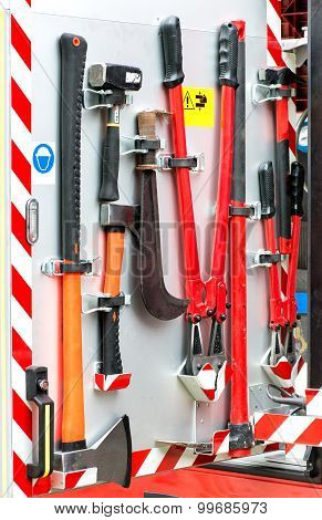 Collection Of Fire Fighting Tools