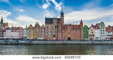 The view of seaside in Gdansk,Poland - 22.08.2015.
