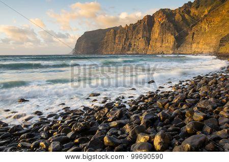 Cliffs Of Los Gigantes At Sunset