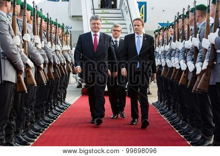 President Of Ukraine During His Visit To Berlin