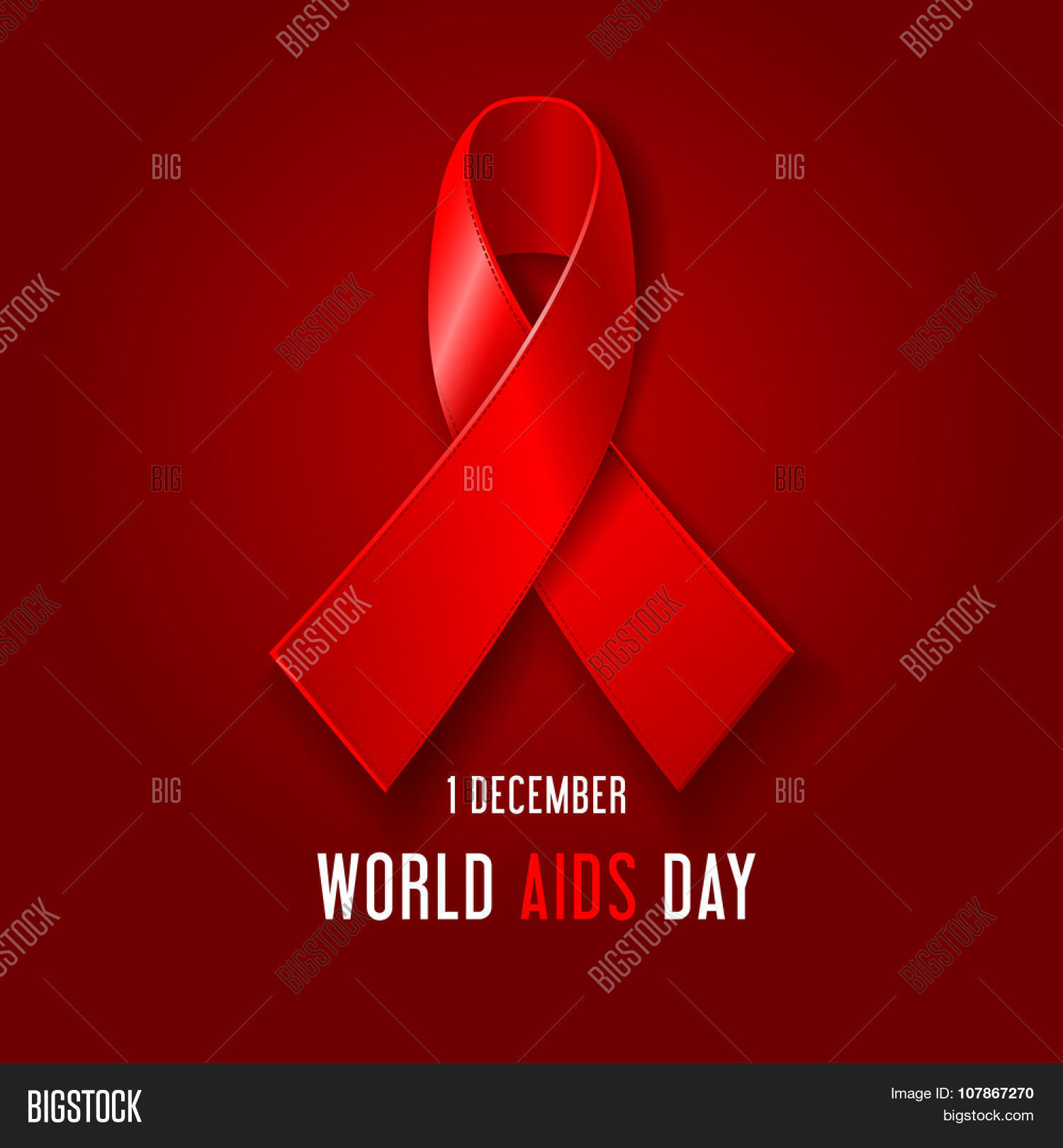World aids day concept poster red vector photo bigstock world aids day concept poster with red ribbon of aids awareness symbol for solidarity with buycottarizona Image collections