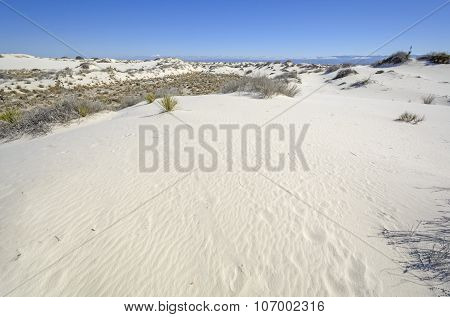 White Sands On Cold Sunny Morning