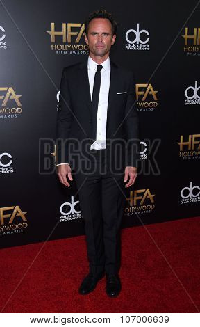 LOS ANGELES - NOV 1:  Walton Goggins arrives to the Hollywood Film Awards 2015 on November 1, 2015 in Hollywood, CA.