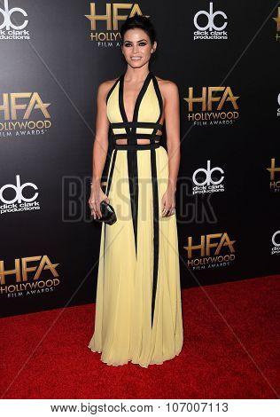 LOS ANGELES - NOV 1:  Jenna Dewan-Tatum arrives to the Hollywood Film Awards 2015 on November 1, 2015 in Hollywood, CA.