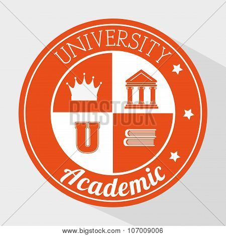 Academic education and elearning graphic design, vector illustration poster