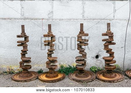 Old Rusty Crankshafts