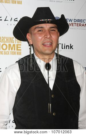 LOS ANGELES - NOV 2:  Apache Jay Nesahkluah at the
